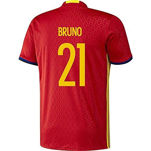 獲物黒人繕うadidas Bruno #21 Spain Home Jersey UEFA EURO 2016 (Authentic name & number) /サッカーユニフォーム スペイン ホーム用 ブルーノ