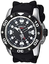 Invicta Men's 'Sea Base' Quartz Stainless Steel and Silicone Casual Watch, Color:Black (Model: 20181)