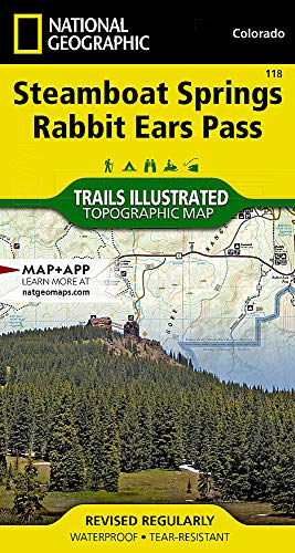 Steamboat Springs, Rabbit Ears Pass (National Geographic Trails Illustrated Map)