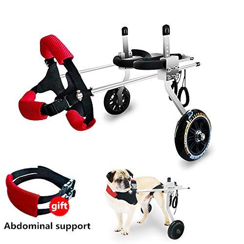 Adjustable Wheels Dog Wheelchair Cart Disabled Dog