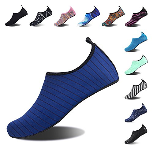 Womens Quick Pool Blue Swim Socks Mens Spotrs Surf Yoga Shoes Beach Aqua Shoes Diving for Water Stripe Snorkeling Barefoot Dry wTBXqSgBx