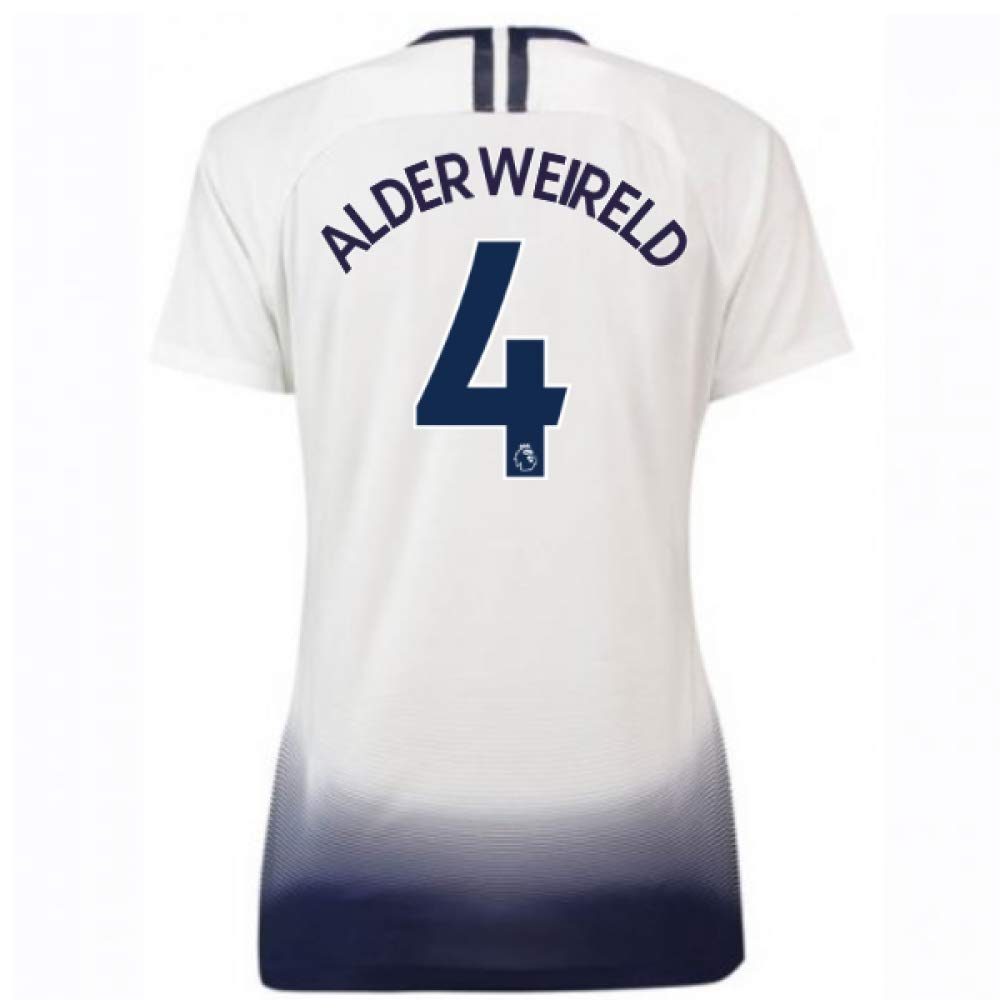 2018-2019 Tottenham Home Nike Ladies Football Soccer T-Shirt Trikot (Toby Alderweireld 4)