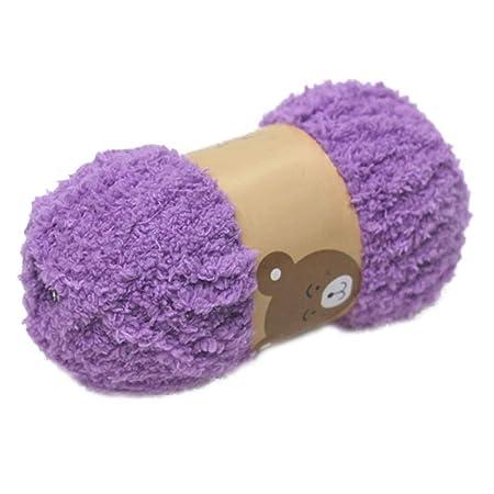 Lana de tejer suave de terciopelo coral para bufanda, gorro y ...
