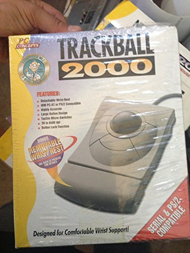Advanced Trackball w/ Built in Wrist Rest - Serial & PS/2 Connections - For Legacy Vintage (Ps2 Trackman Wheel)
