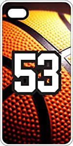 Basketball Sports Fan Player Number 51 White Plastic Decorative iphone 4s Case