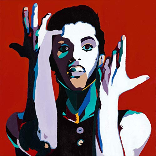 (Vakseen Art - The Cherry Moon - Prince portrait art - Limited Edition Giclee Print & Framed Pop Art for Wall)