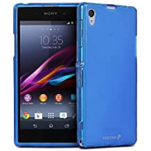 Fosmon Dura-FRO Series (TPU) Semi Flex Gel Skin Case Cover for Sony Xperia Z1 / Sony C6906 - Fosmon Retail Packaging (Blue)