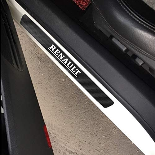 QWERD Car Carbon Fiber Protect Sticker Look Car Door Plate sill scuff welcome pedal threshold Cover for Renault duster megane Sticker