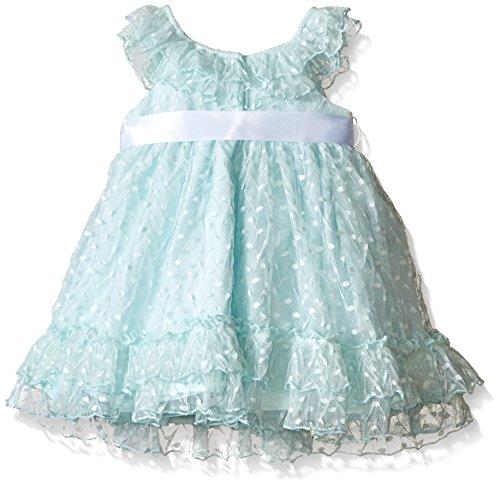 Laura Ashley London Baby Mint Point D esprit Dress Green