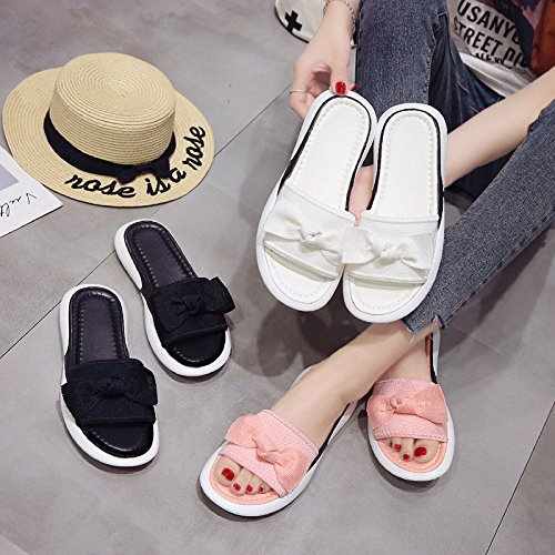 Ladies Lightweight Anti Casual Summer Skid Pink Wear Comfortable Wear Slippers Sandals Women'S And WHLShoes Resistant Bottom Flat xv1nqzIz