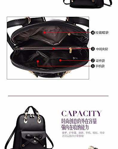 MSZYZ Single Shoulder Bag Double Bag Rucksack Leisure Travel Bag, schwarz