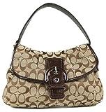 Coach Soho Signature Flap Handbag-Khaki/Mahogany