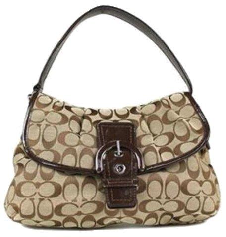 Flap Handbag-Khaki/Mahogany (Soho Flap Handbag)