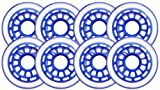 Clear / Blue Inline Skate Wheels 76mm 78a 8-Pack