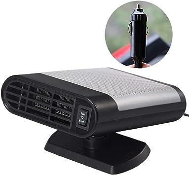Calentador de coche portátil con purificador de aire 12 V 150 W auto 30 segundos de calentamiento rápido desempañador desempañador vehículo calentador de cerámica ...