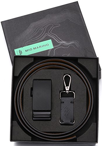 Marino Men's Genuine Leather Ratchet Dress Belt With Automatic Buckle, Enclosed in an Elegant Gift Box - Black - Adjustable from 28'' to 44'' Waist by Marino Avenue (Image #2)