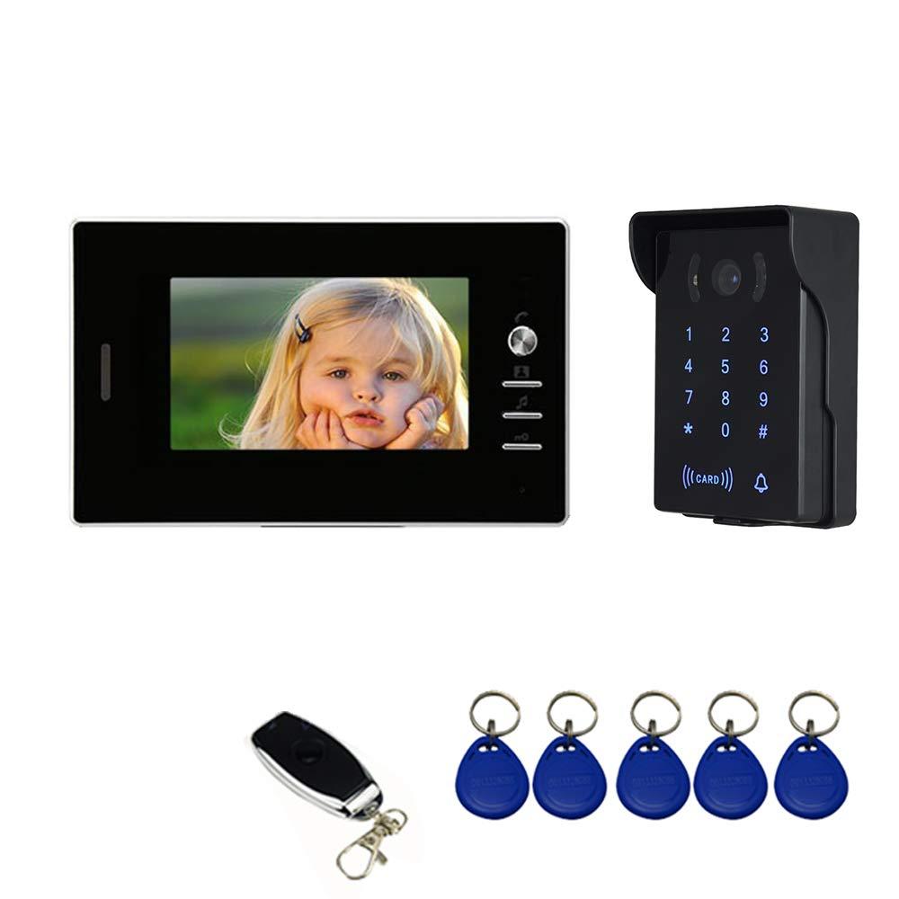 Interfono Intercomunicador Instrucciones en espa/ñol Nudito Kit Videoportero universal para vivienda 1 Monitor TFT LCD a color de 7, 1 C/ámara infrarroja exterior e impermeable con Visi/ón Nocturna