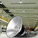 Ambienceo 120W 6000K LED High Bay Light Lamp Cool White for Gym Theater Library Exhibition Hall Shopping Mall Factory Warehouse Workshop Station Airport Parking offers