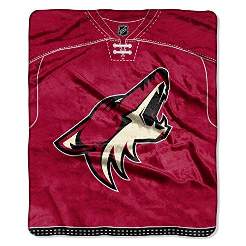 NHL-Arizona-Coyotes-Jersey-Plush-Raschel-Throw-50-x-60-Red