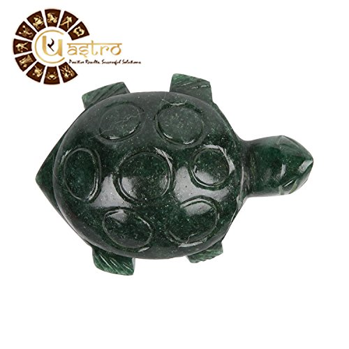 UR Astro Green Aventurine Turtle Hand Carved Genuine Gemstone Carving Turtle Statue Home/Office/Car ()
