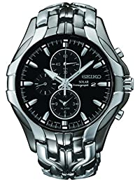 "Seiko Men's SSC139""Excelsior"" Stainless Steel Solar Watch"