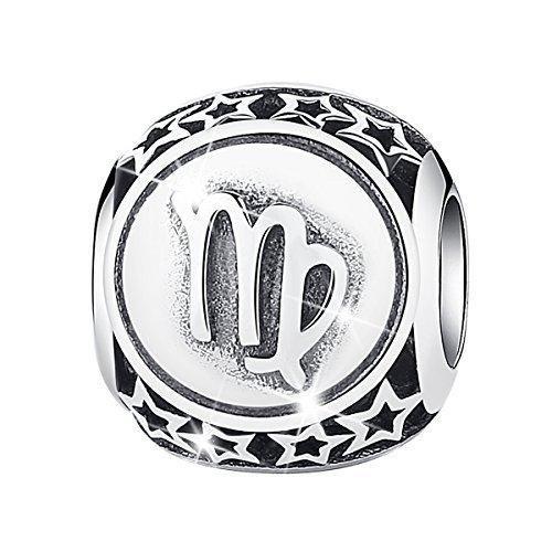 Bamoer Sign of Zodiac Virgo 925 Sterling Silver Charms Bead For DIY Bracelet
