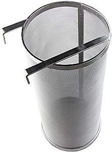 300 Micron Mesh Hopper Spider Strainer Stainless Steel Hop Spider Beer Hops Filter Tea Kettle Brew Filter (6.1 x 13.98 Inch)