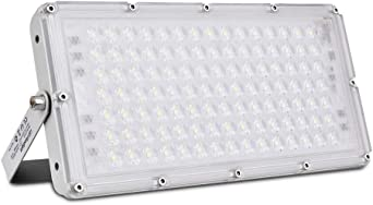 100W Focos LED Exterior, Sararoom Floodlight 180° Ultrafino ...