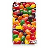 DELICIOUS RCGRAFIX Jelly Bean SWEET Candy Direct-To-Case Printed - Looks Real Generic & Compatible 4 Quality Hard Case Snap On Skin for ipod 4/4G (WHITE)