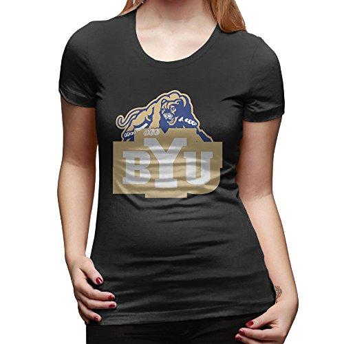U9 Women's Brigham Young University T Shirts XXL Black