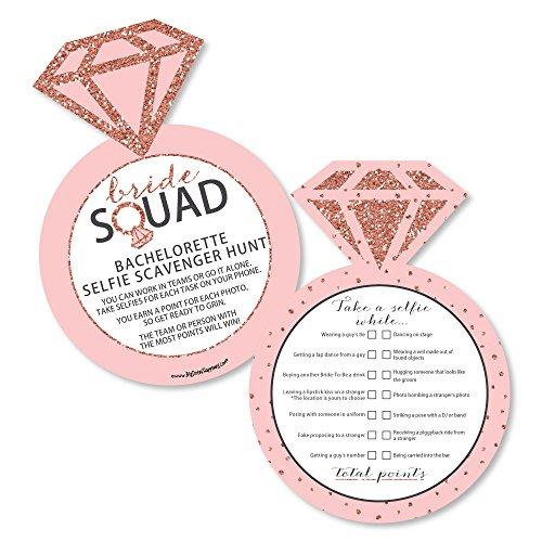 Bride Squad - Selfie Scavenger Hunt - Rose Gold Bridal Shower or Bachelorette Party Game - Set of 12 ()