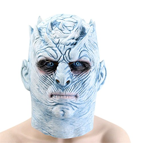 Halloween Mask Games Throne Night King Walkers Full Head Latex Masks for Men Adults Cosplay Costume Party