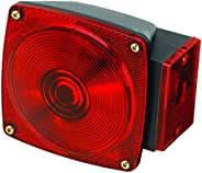 Wesbar 2823284 Deluxe Black Right Marine Tail Light, OS