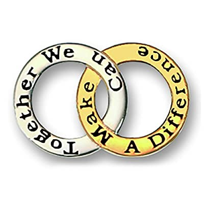 Together We Can Make a Difference Joined Rings Team Award Lapel Pin