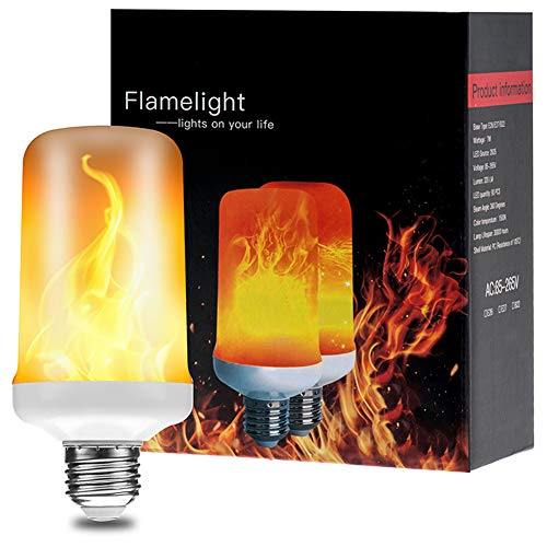 LED Flame Effect Light Bulbs E26 Simulation Fire Flickering Decorative Bulbs Halloween/Home/Hotel/Bar/Party(1pack)