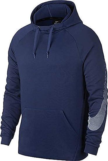 : Nike Men's Dry Linear Logo Hoodie (Binary Blue