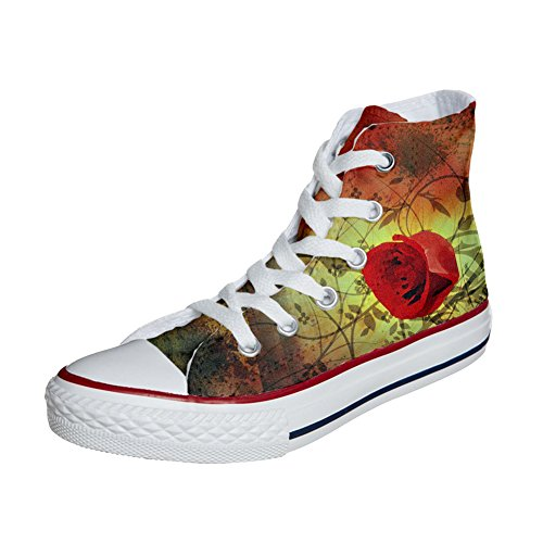 artisanal rouge rose Shoes Your Make coutume produit Customized chaussures Adulte Converse q8nawpv