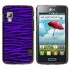 Paccase / SLIM PC / Aliminium Casa Carcasa Funda Case Cover para - Purple Zebra Stripes Black Vibrant - LG Optimus L5 II Dual E455 E460