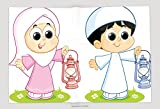 Supersoft Fleece Throw Blanket A Muslim Boy And Girl Carrying Ramadan Lanterns 585771053