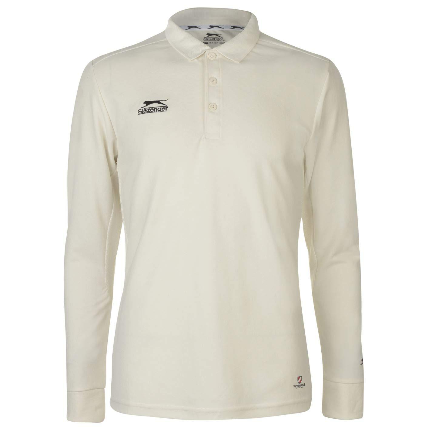 Slazenger Hombre Long Sleeve Camiseta De Críquet: Amazon.es: Ropa ...