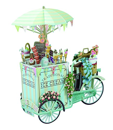 Paper D'Art 3D Pop Up Ice Cream Vendor Birthday Card -