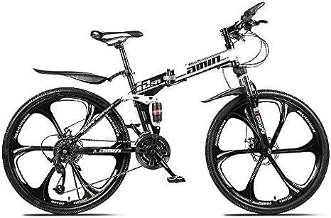 ZZKK Bici de montaña Plegable 26/24 Pulgadas de Velocidad ...