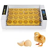 Eggs Incubator, 24 Eggs Automatic Temperature Control Energy-saving Low-noise Hatcher Made with Waterproof and Anti Electric Leakage design Suitable for Chicken Duck Pheasant Goose Eggs