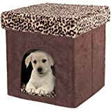 Pet Zone Foldable Indoor Pet House Play Cube Bed Hide Away Ottoman Cat and Dog Crate Kennel Make Pets Feel Safe at Home