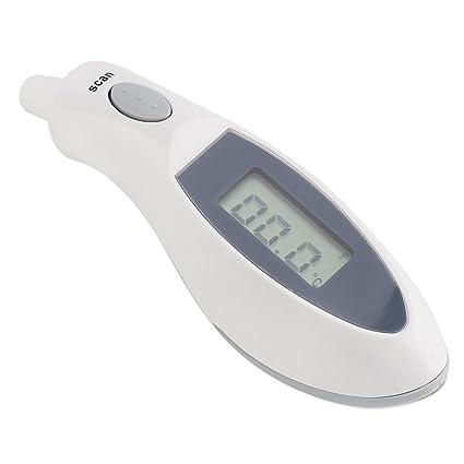 Zerodis Termómetro del Bebé Termómetro de Oído Infrarrojo Digital Profesional Monitor de Temperatura Indicador de Fiebre