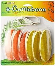 Penn Plax Bird Life E2 Natural Cuttlebone, Mango and Banana (6 Bones Per Package)