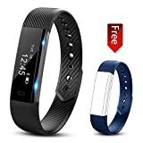 Fitness tracker watch - Hembeer V1 Smart Band with Step Tracker - Pedometer Bluetooth Bracelet Activity Tracker Sleep Monitor - Calories Track Sweatproof Health Band for iPhone & Android phones - Blue