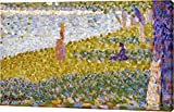 "This 11""x18"" premium giclee canvas art print of Women On The River Bank by Georges Seurat is created on the finest quality artist-grade canvas, utilizing premier fade-resistant archival inks that ensure vibrant lasting colors for years to come. Every..."