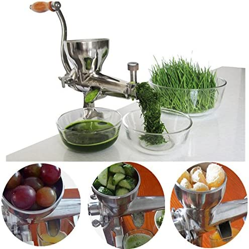 Wheatgrass licuadora manual de acero inoxidable mano extractor de ...