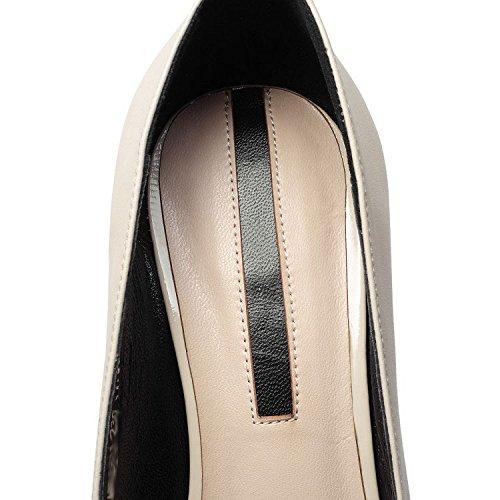 DKFJKI Talons Hauts en Cuir pour Femmes Escarpins Chaussures à Talons Aiguilles Mode Strass Robes Vêtements de Jour Beige 4Yv2gzKQ